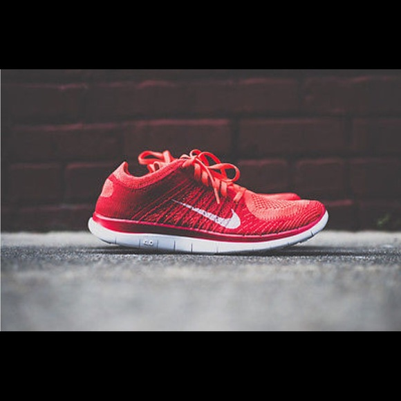 Nike Free 4.0 Flyknit Men's Running Bright Crimson